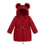 Girls Red Down Padded Coat
