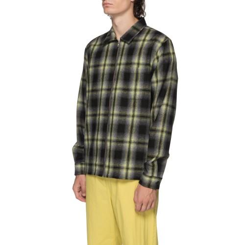 스투시 Gunn Plaid Zip Up L/Sl Shirt