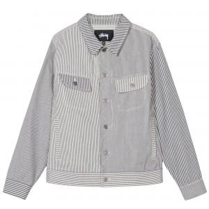 Mixed Stripe Trucker Jacket
