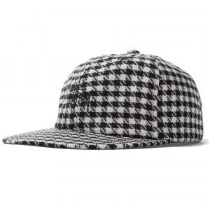 Mixed Pattern Strapback Cap