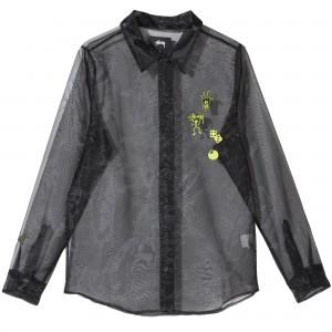 Sheer Embroidered Shirt