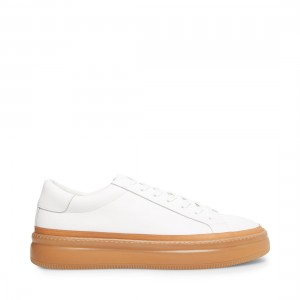 PUCKER WHITE LEATHER