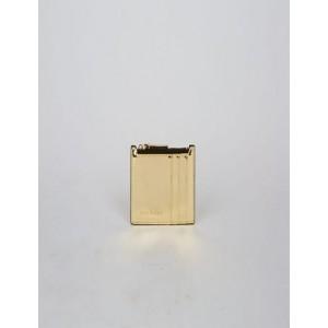 HIGH-SHINE METALLIC TOP-ZIP CARDCASE