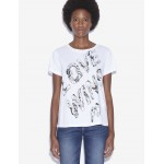 WOMENS STREET ART BY POMME CHAN CREWNECK TEE
