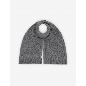 CABLE-KNIT WOOL-BLEND RECTANGULAR SCARF