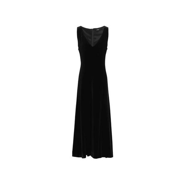 Fluted velvet midi dress