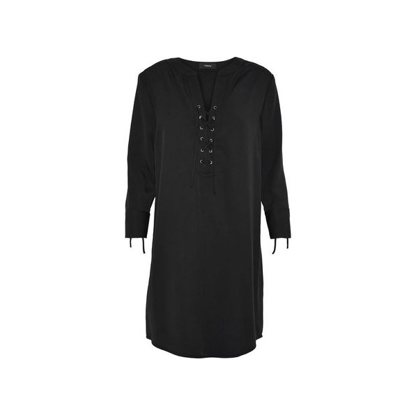 Jullitah lace-up Tencel-twill mini dress
