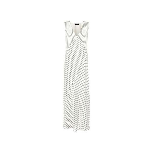 Striped satin-jacquard maxi dress