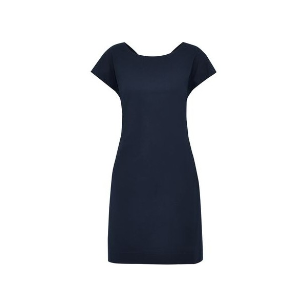 Andrizza twist-back ribbed cotton-blend mini dress