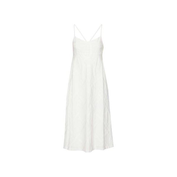Haranna checked cotton-jacquard midi dress