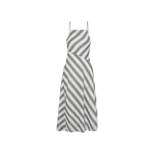 Summer Athens striped cotton and silk-blend midi dress