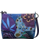 Hand Painted Leather Flap Messenger