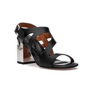 Above Sandal Black Leather