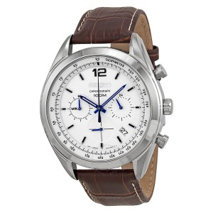 Seiko Chronograph White Dial Mens Watch SSB095 SSB095
