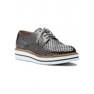Bria Oxford Pewter Leather