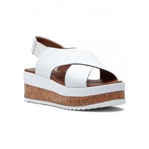 8837 Sandal White Leather