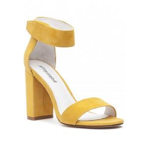 Lindsay Sandal Yellow Suede
