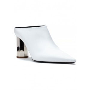 31105 Mule White Leather