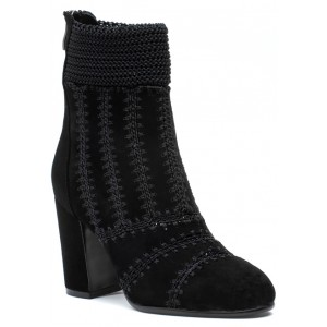 Washer Boot Black Suede