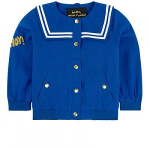 Jacket with a sailor collar