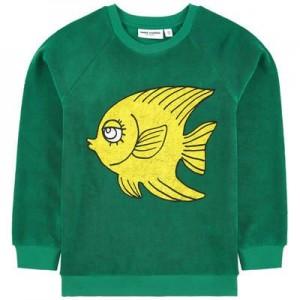Print organic terry cloth sweatshirt
