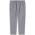 Girl carrot fit jacquard cloth pants