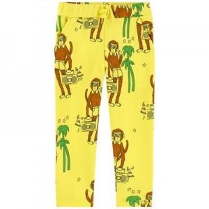 Printed organic cotton tracksuit pants