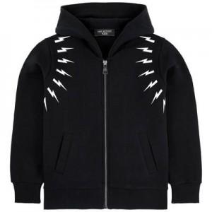 Zip sweatshirt with a fancy hood