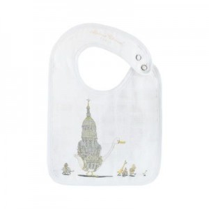 Graphic organic cotton bib Atelier Choux