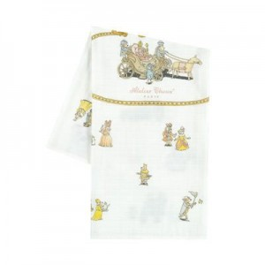 Print organic cotton swaddle - 95 x 95 cm (39.3 x 39.3 inches) Royals