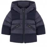 Bi-material padded coat - Hector