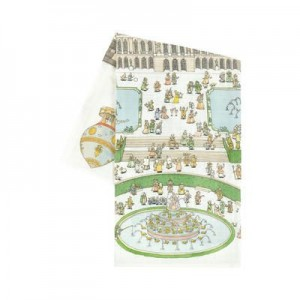 Print organic cotton swaddle - 95 x 95 cm (39.3 x 39.3 inches) Chateau de Versailles