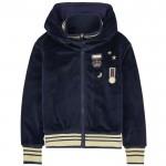 Zip velvet hoodie