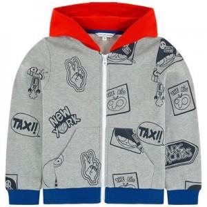 Print zip hoodie