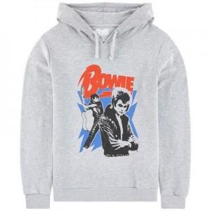 Printed hoodie David Bowie