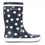 Navy Star rain boots - Lolly Pop Print