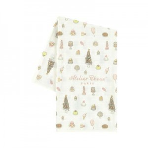 Print organic cotton swaddle - 95 x 95 cm (39.3 x 39.3 inches) Sweetie Pie