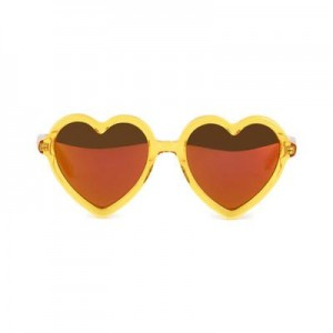 Heart sunglasses with mirror lenses - Lola