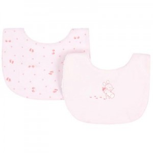Pack of 2 organic cotton bibs