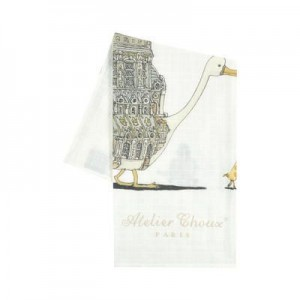 Print organic cotton swaddle - 95 x 95 cm (39.3 x 39.3 inches) Atelier choux