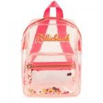 Transparent rucksack with sequins