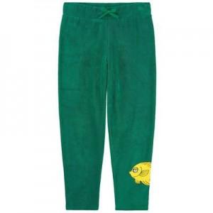 Print organic cotton tracksuit pants