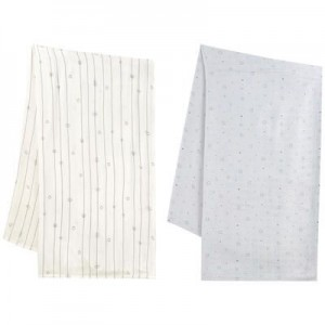 Pack of 2 print swaddles 110 x 110 cm (43.3 x 43.3)