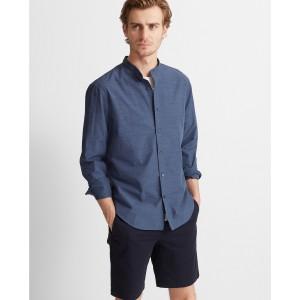 Slim Band Collar Poplin Shirt