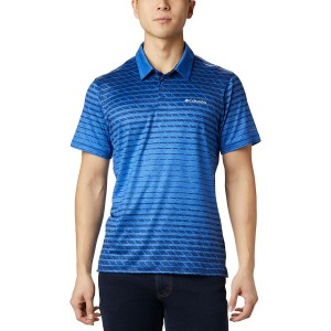 Tech Trail Print Polo Shirt - Mens