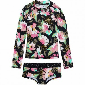Night Bloom Long-Sleeve Rashguard Set - Girls