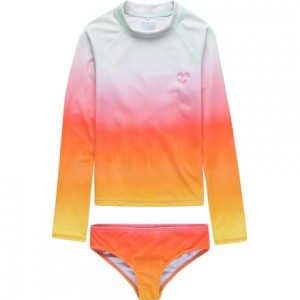 Hazy Daze Long-Sleeve Rashguard Set - Girls