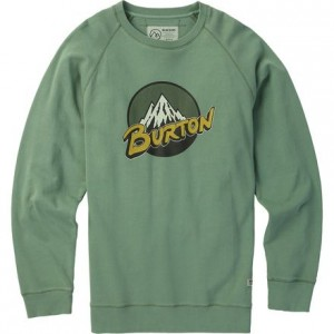 Retro Mountain Organic Crew Sweatshirt - Mens