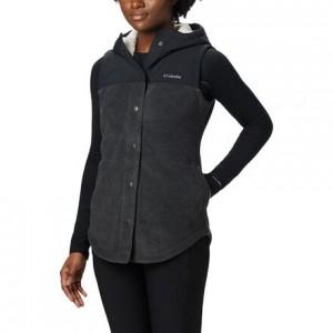 Benton Springs Overlay Fleece Vest - Womens