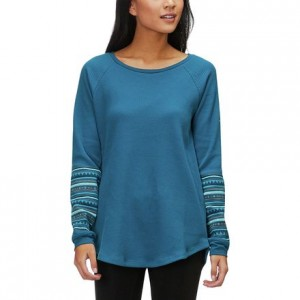 Along The Gorge Printed Long-Sleeve Crew Top - Womens